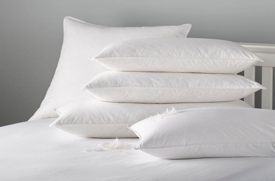 Natural down pillows