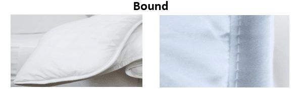 Bound edges stitching