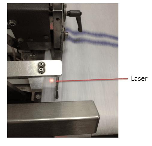 Laser stitching machine for towels