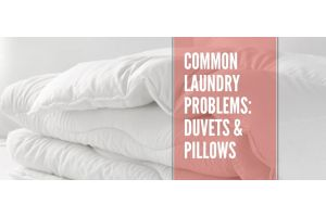 Common laundry problems: duvets and pillows banner