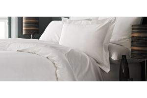 White duvet with white duvet cover