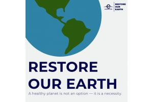 World Earth Day 2021 logo with the theme of Restoring Our Earth