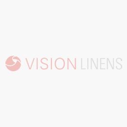 V Luxury 100% Mercerised Cotton Satin Band White Tablecloth (In Single Packs)