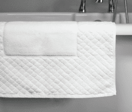 900 GSM Diamond Border 100% Cotton Bath Mat *Clearance* (In Packs of 5)