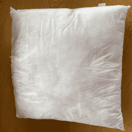 Cushion Inserts: Polypropylene Cover & 100% Polyester Flame Retardant Filling (In Single Packs)