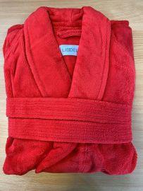 Red Polycotton Bathrobe