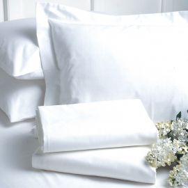 V200 80/20 Cotton Rich Percale Plain Flat Sheet (In Packs of 5)