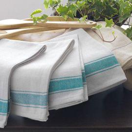 Green Stripe Glass Cloth (In Packs of 50)