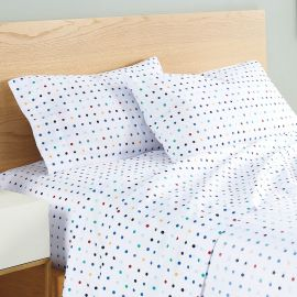 Utica Printed Dot Trot Twin Sheet Set
