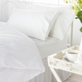VV300 100% Cotton Plain Sateen Fitted Sheets