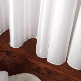 VE Plain White Shower Curtain