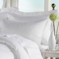 Hotel Pure Luxury 200 Thread Count 100% Cotton 0.4cm Satin Stripe Pillowcase (In Packs of 2)