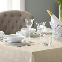 100% Polyester Ivy Leaf Design Coloured Tablecloth (In Packs of 5)
