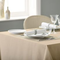 V Spun Polyester Plain Coloured Tablecloth (In Single Packs)