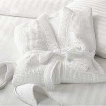 Hotel Pure Luxury 50/50 Polycotton Waffle Honeycomb Large Bathrobe