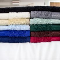 Hotel Pure Luxury 475 GSM Coloured 100% Cotton Bath Sheet (In Single Packs)