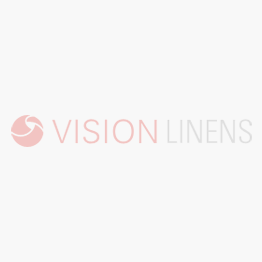 White flame retardant 144 thread count polyester duvet cover folded over