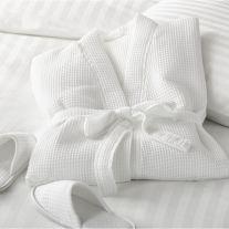 Hotel Pure Luxury 50/50 Polycotton Waffle Honeycomb Large Bathrobe