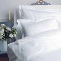 300 thread count 100% cotton duvet cover with 1cm thick satin stripes