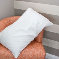 V Quilted Flame Retardant Clusterfibre Pillow