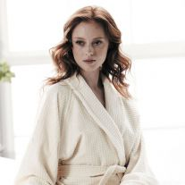 VV380 Mosaic Design Coloured 100% Cotton Velour Spa Bathrobe