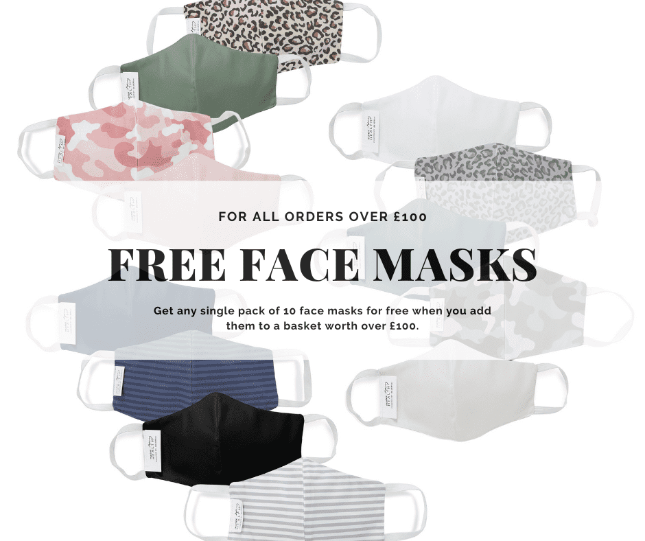 Free face masks promotion at Vision Linens
