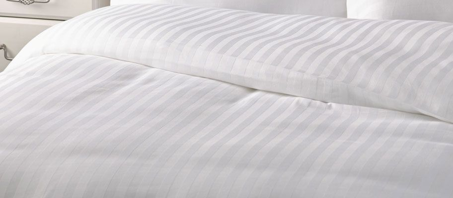 satin stripe bag style duvet cover