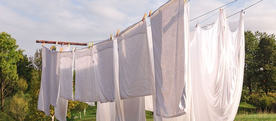 clothes drying on washing line