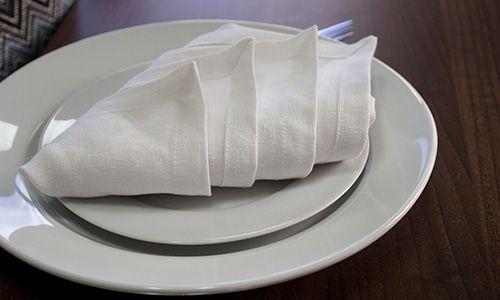 the diamond napkin fold