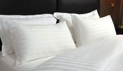 satin stripe pillows