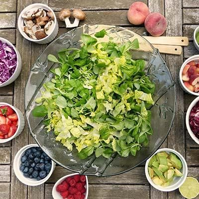 healthy diet with plenty of fruits and veg