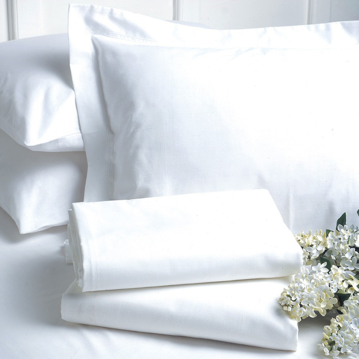 Percale Pillow Case White by